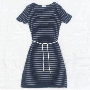 Calvin Klein Navy & White Stripe Dress NWOT